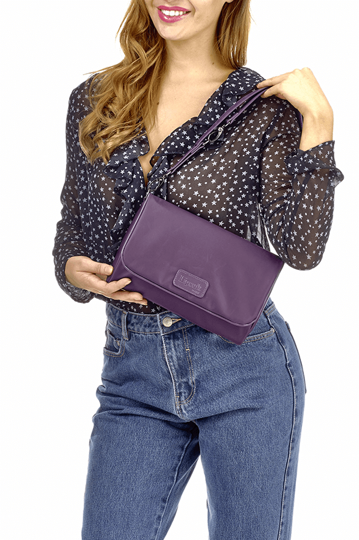 Lady Plume Clutch M Purple | 4
