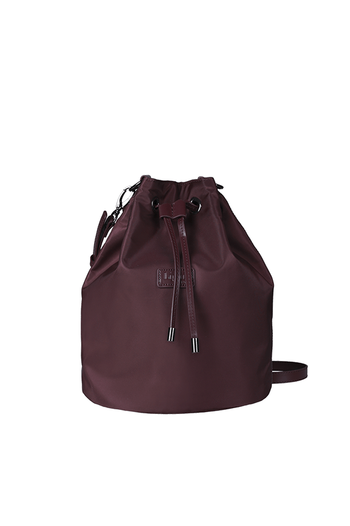 Lady Plume Bucket Bag S Wine Red | 1
