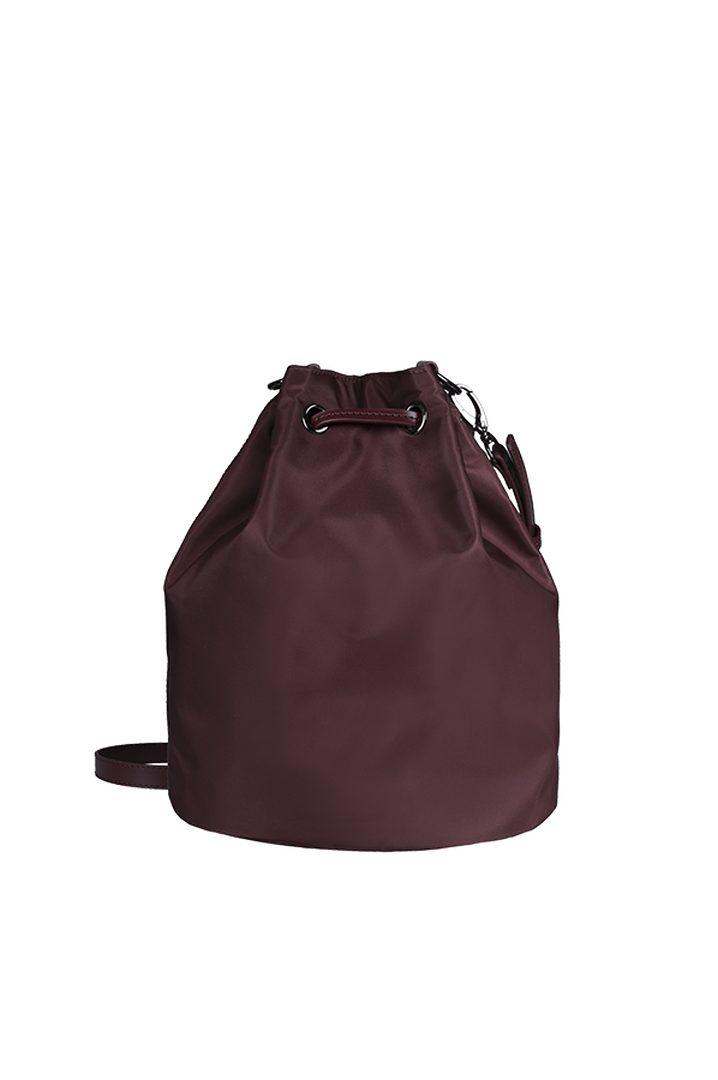 Lady Plume Bucket Bag S Wine Red | 3