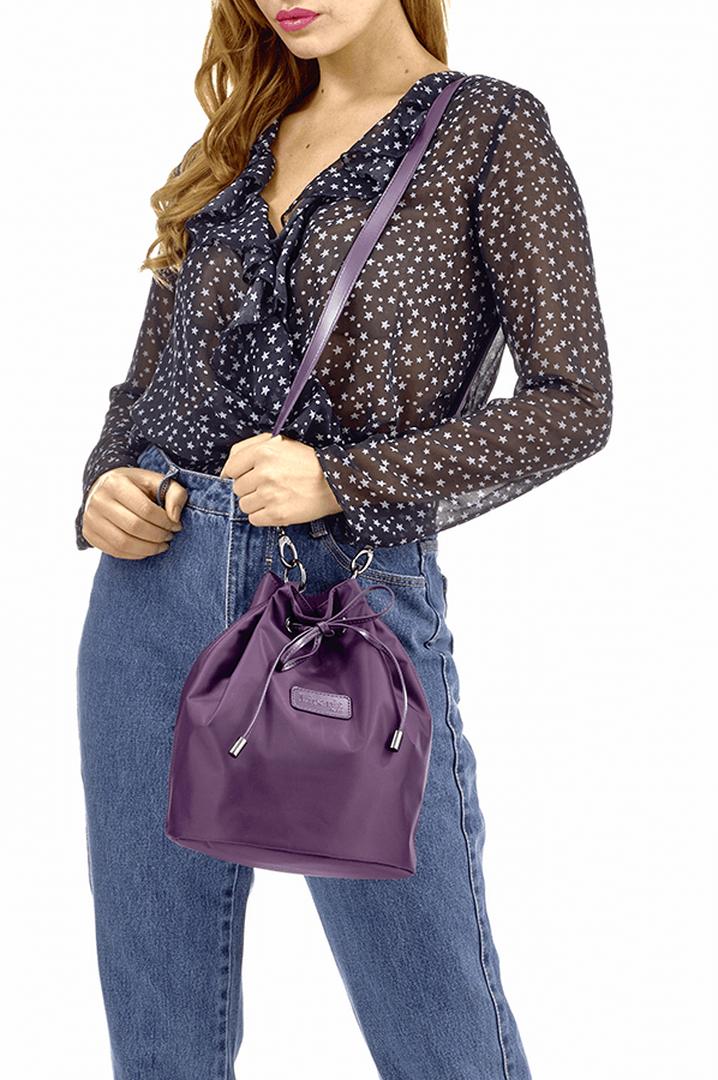 Lady Plume Bucket Bag S Purple | 3