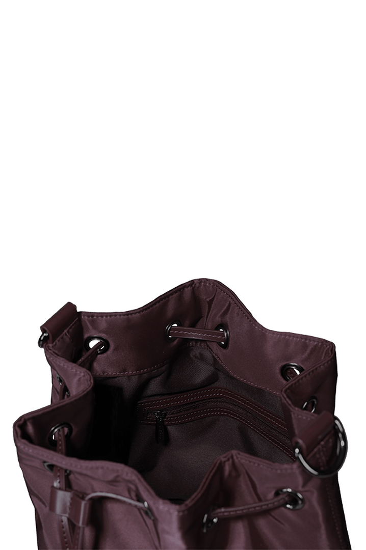 Lady Plume Bucket Bag S Wine Red | 2