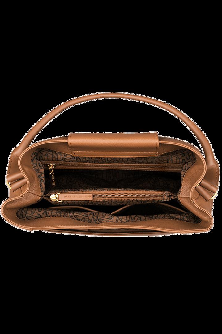 Plume Elegance Hobo tas Cognac | 2