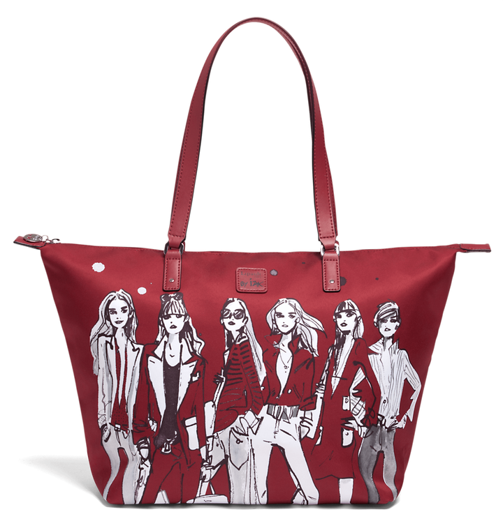 Izak Zenou Collab Shopper M Pose/Garnet Red | 1