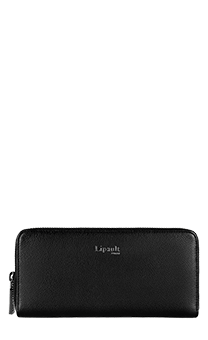 Lipault Plume Elegance Zip Around Wallet  Black